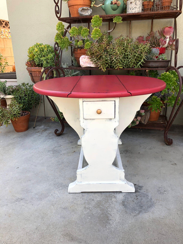 Drop Leaf Table, Wood Farmhouse Table, Ethan Allen Table