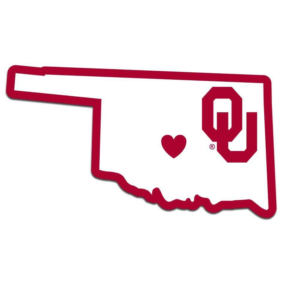 Oklahoma Sooners Decal Home State Pride Style Oklahoma Sooners Sooners Team Decal
