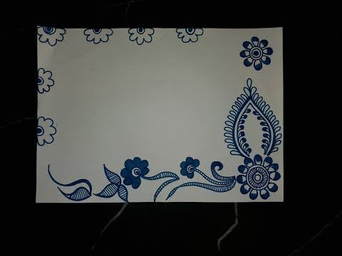 Easy Simple Border Design For Project File   valoblogi com Diy simple easy decorative border design for project file back to school  also youtube ame rd
