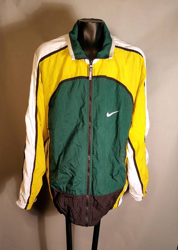 Nike windbreaker Yellow Nike windbreaker jacket, pockets zip