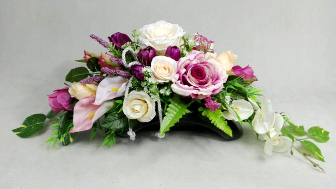 Roze Storczyk Ikebana 1060 4a Stroik Na Grob Kompozycje Kwiatowe Marko604 Funeral Floral Flower Arrangements Floral