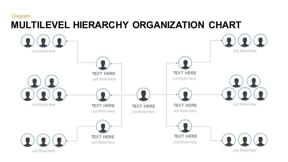 Multilevel Hierarchy Organization Chart Template For Powerpoint And Keynote Multilevel Hierarchy Organization Organization Chart Org Chart Powerpoint Templates