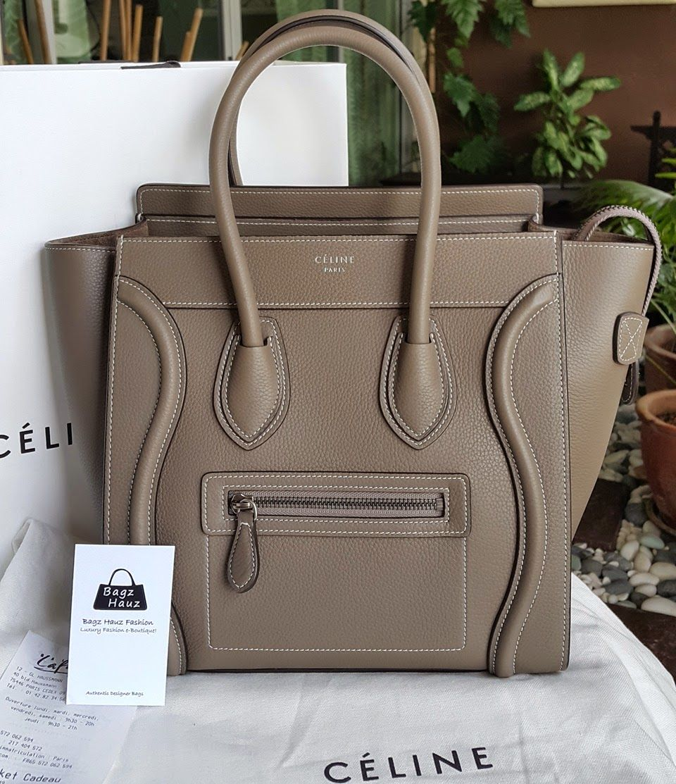 ef1124a61a Celine Micro Luggage Bag in Souris (I want this so bad  ( ) I love the  version with pink stitching throughout it