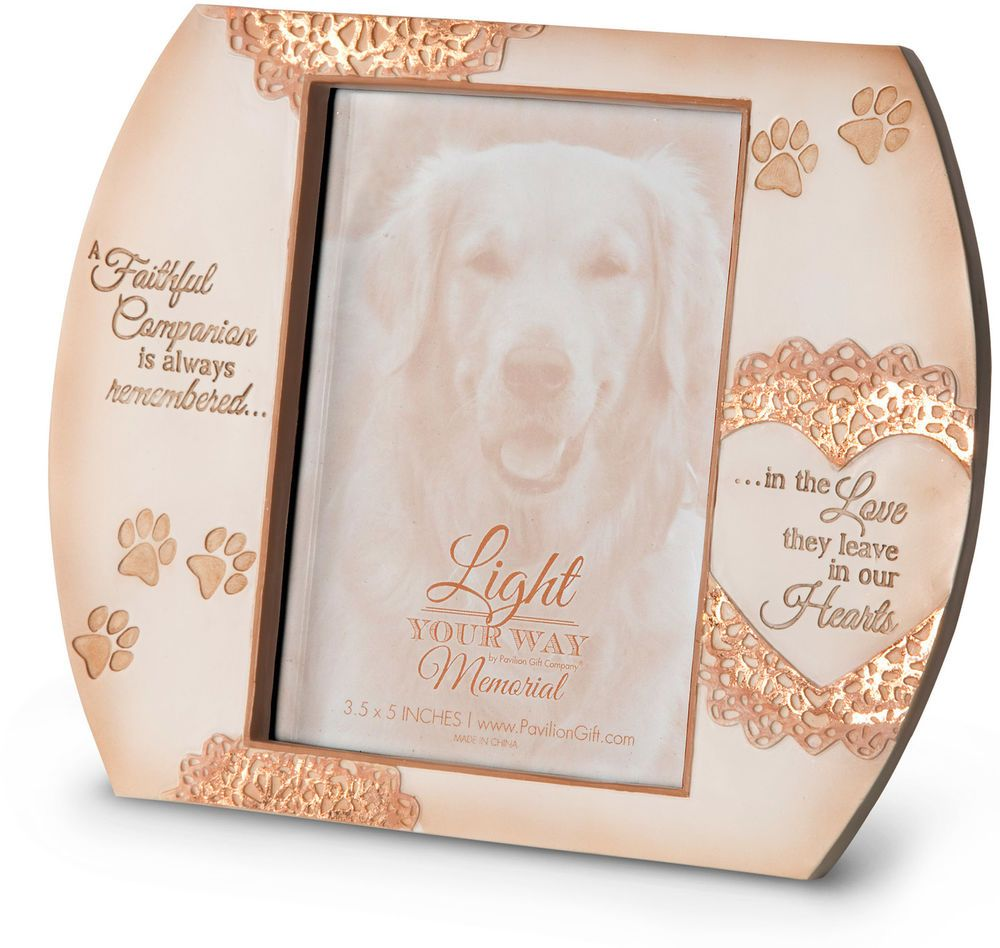Pet Memorial Picture Frame Dog Cat Faithful Companion Always ...