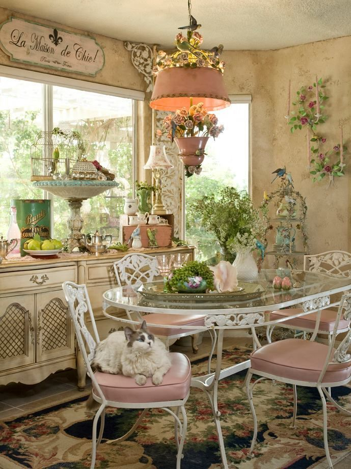 images shabby chic furniture, colors, roses, flowers, kitchens