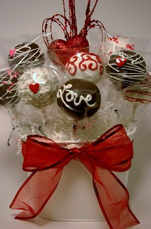 Cake Pop Bouquet Idea Valentine Cake Pop Valentines Day Cakes