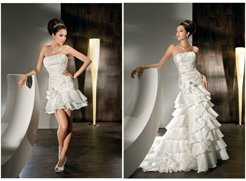 Convertible Long To Short Wedding Dresses - Unique Wedding Ideas