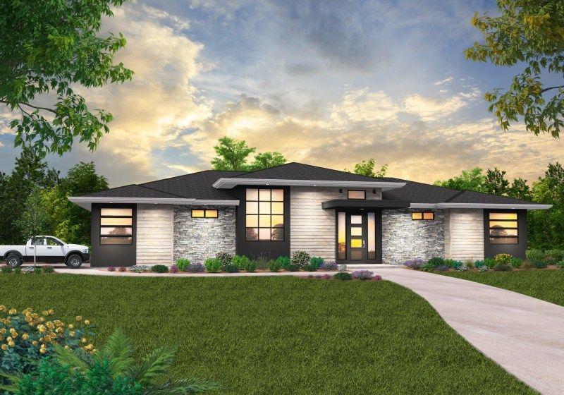 Stewart Prairie House Plan By Mark Stewart Home Design Prairie Style Houses Prairie House Modern Farmhouse Plans