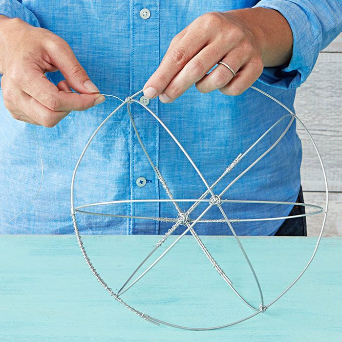 Create a wire frame sphere for the wire mesh. | Faery Wood Bedroom ...