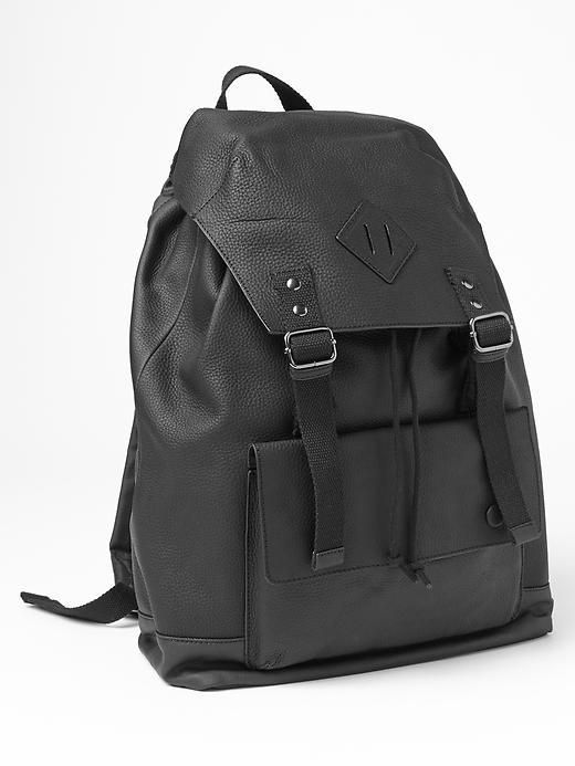 1b3696fc4279 Gap Leather canvas backpack on shopstyle.co.uk