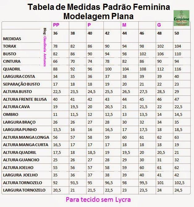 1b87b53c7 Tabela de Medidas serve tanto para roupas como por exemplo camisetas ...