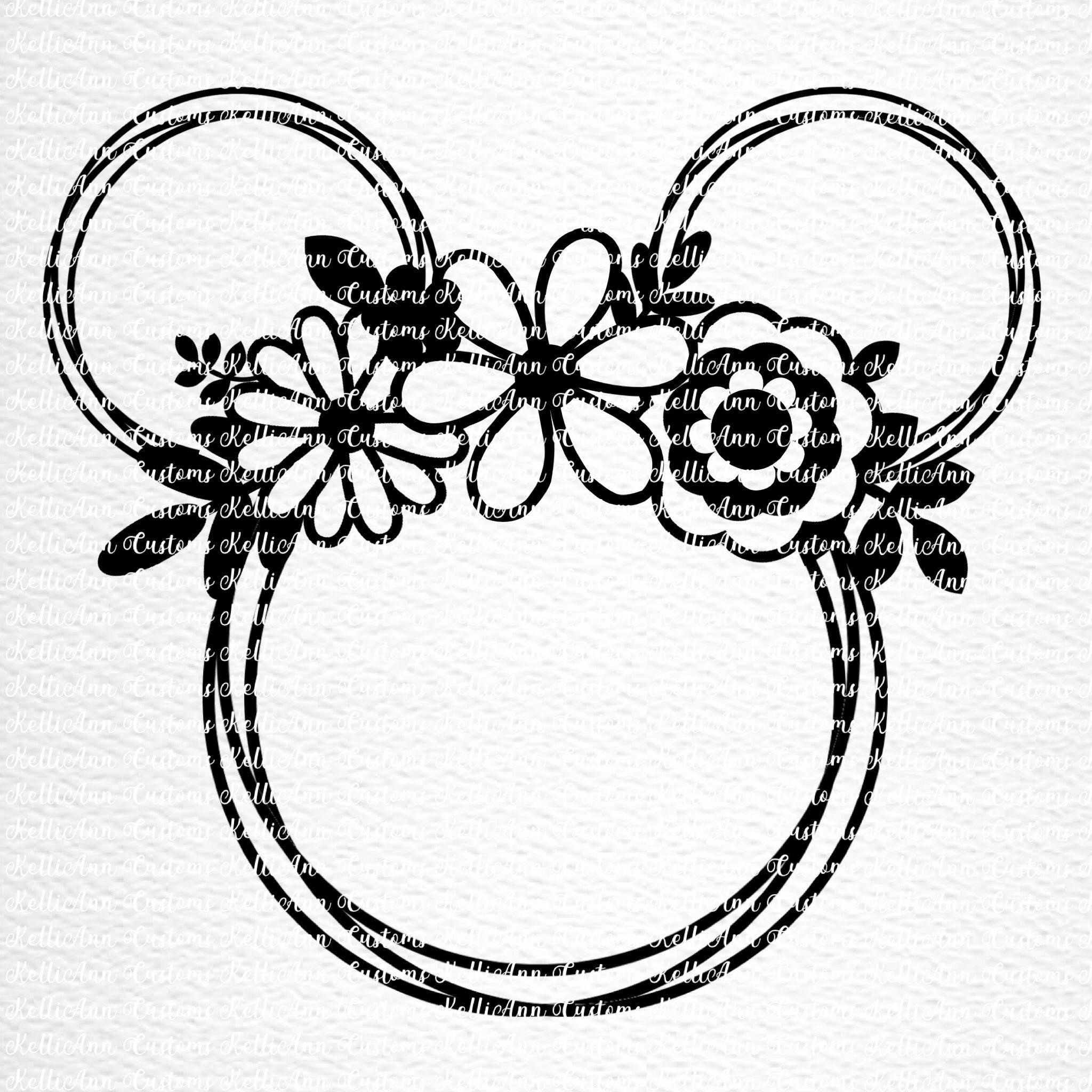 Flower and Garden SVG Flower and Garden Mouse Disney SVG