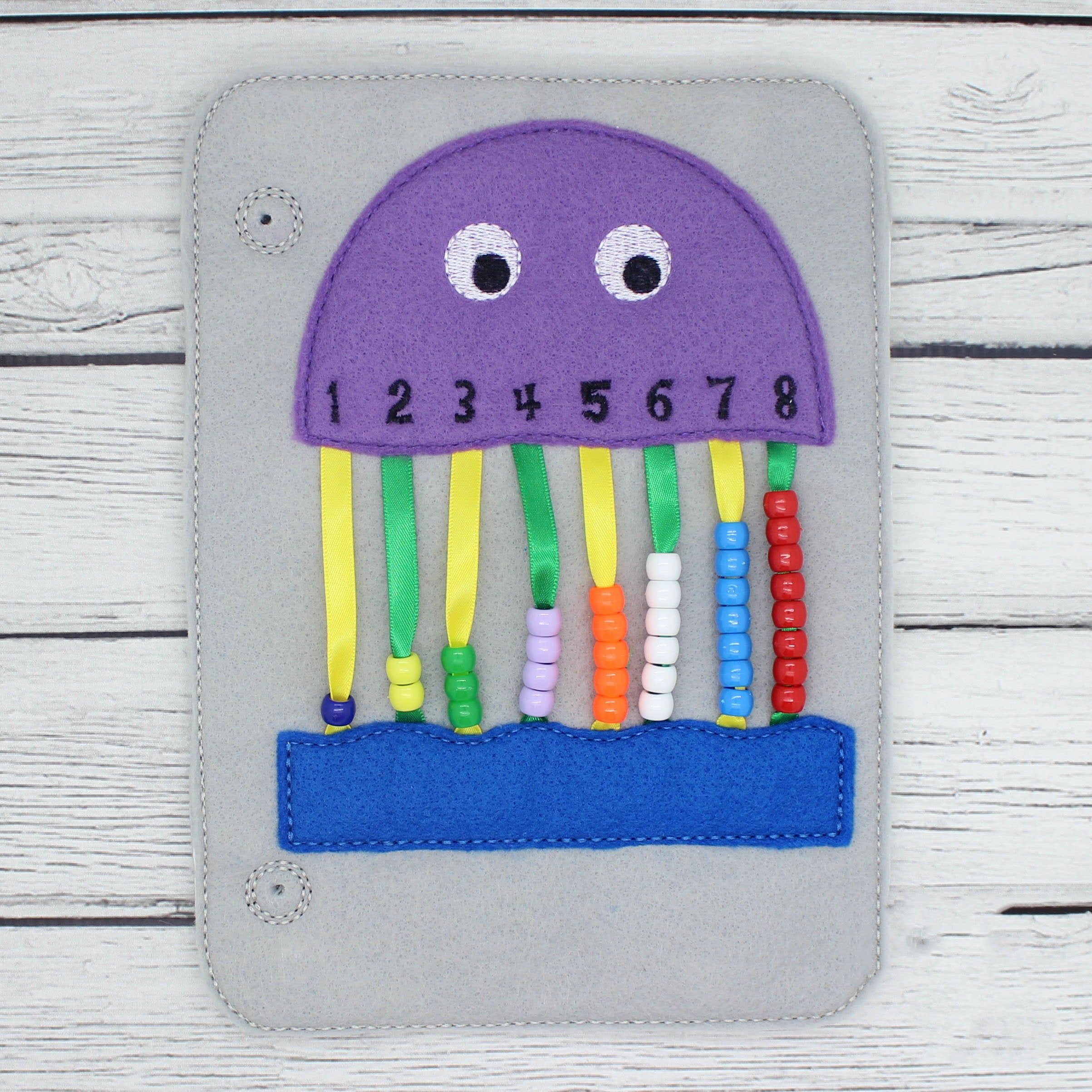 Jellyfish Counting Quiet Busy Book Page Educational Toys