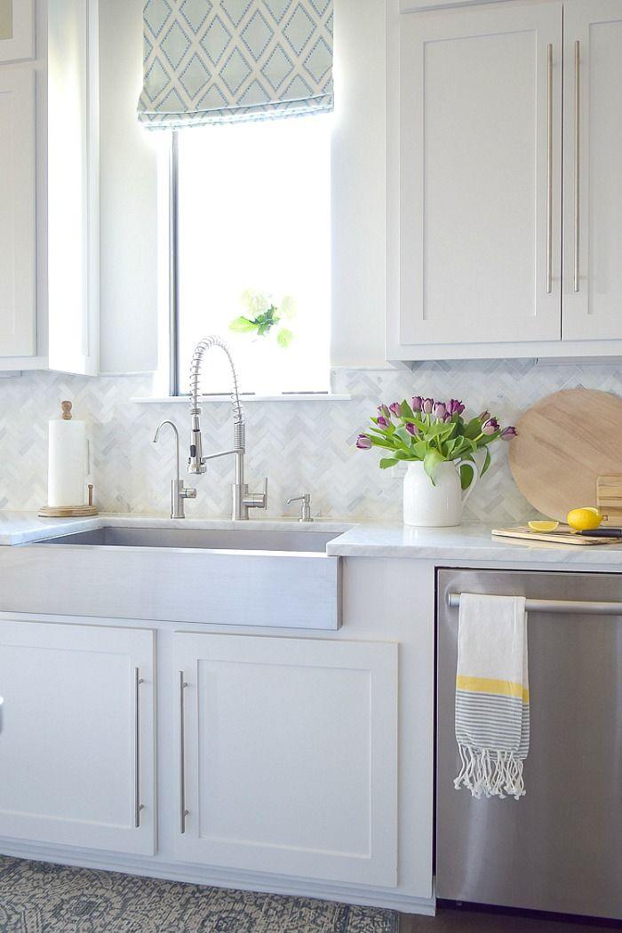 Kitchen Backsplash Tile How High To Go White Kitchen