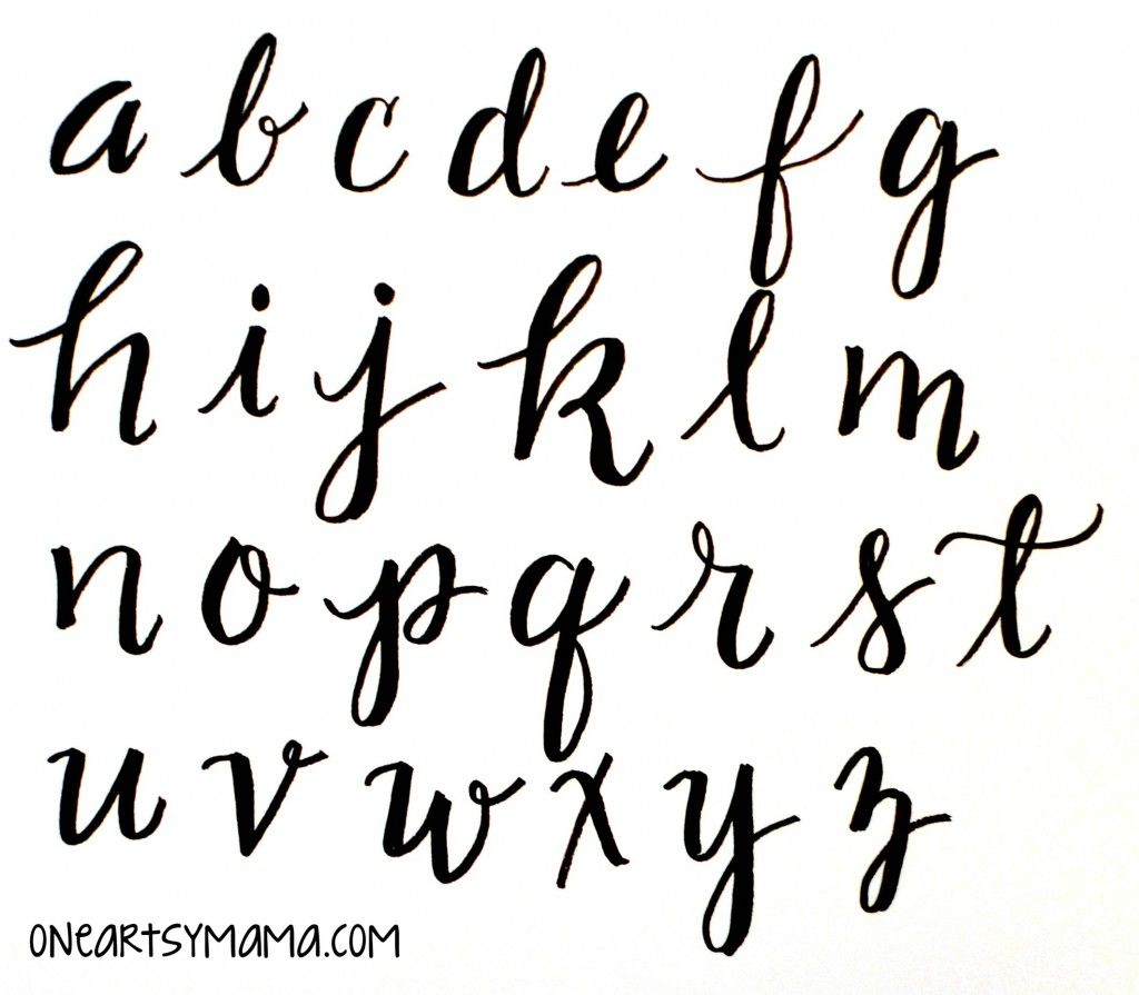 Basic hand lettering alphabet practice one artsy mama Handwriting calligraphy