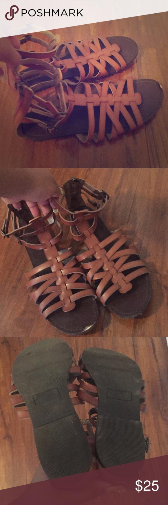 Brown sandals great for summer!❤️❤️ Gladiator sandals Greek goddess sandals‼️‼️ Shoes Sandals