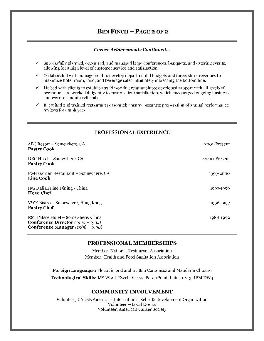 Sample Resume For A Restaurant Jobcareer Resume Template Career Resume Template Resume Examples Resume Writing Templates Sample Resume Format