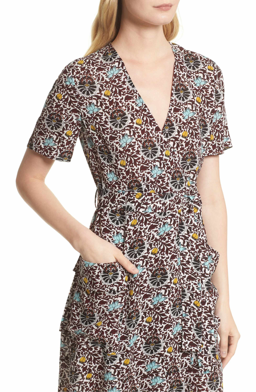 A L C Stephanie Print Silk Wrap Dress Nordstrom Exclusive Nordstrom Dresses Nordstrom Dresses Silk Wrap Dresses [ 3000 x 1956 Pixel ]