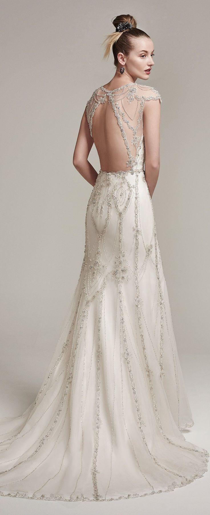 Elegant vintage fringe wedding dress 7 (With images