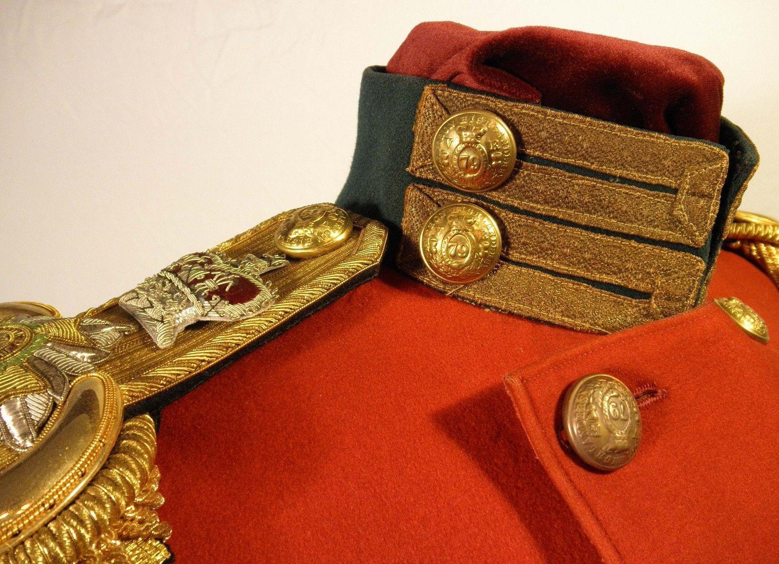 79th Cameron Highlanders Scottish officers coatee Crimean Captain c1854