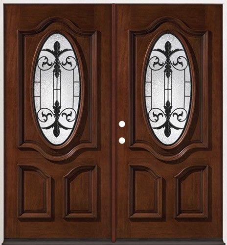 Double Entry Wood Doors double front door designs - google search | front porch