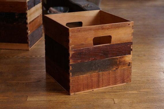 Wood Crate For 12 Inch Vinyl Lp Record Storage By Steidlewave 65 00 Vinyl Storage Record Storage Vinyl Record Storage