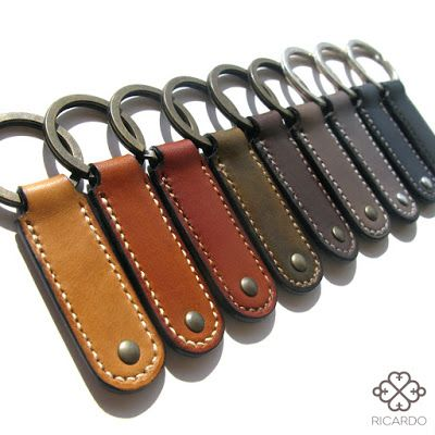 RICARDO Cuir Création Porteclefs Cuir Pinterest Leather - Porte clef cuir