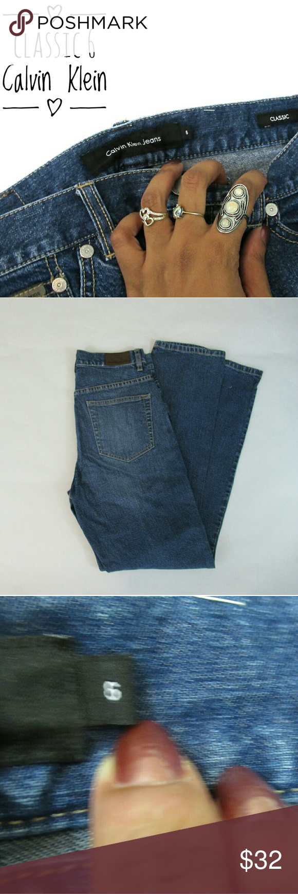 Classic Calvin Klein Jean Vintage 6 High Waist R Good condition Calvin Klein Jeans Jeans Straight Leg