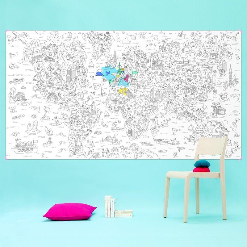 Suuri väritettävä juliste - Atlas
