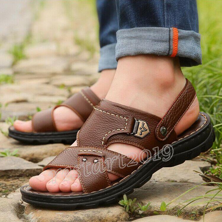 3 Men/'s Casual Wear Flat Beach Shoes Massage Sandals Flip Flops Sandals Slippers
