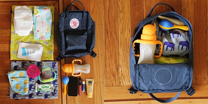 Kanken Mini Backpack As A Diaper Bag