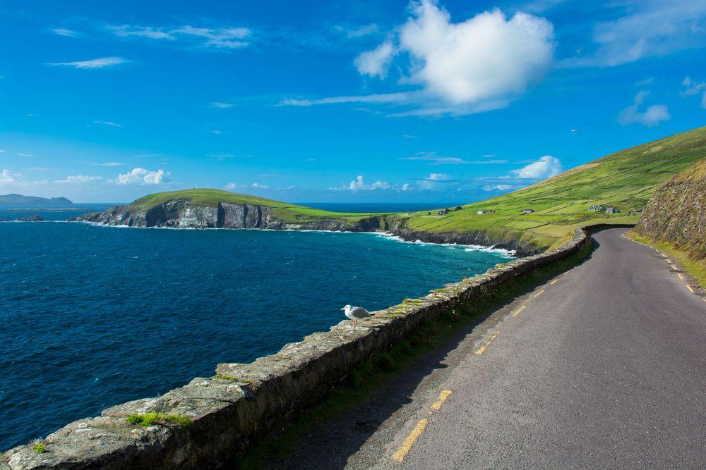 Wild Atlantic Way road in Ireland