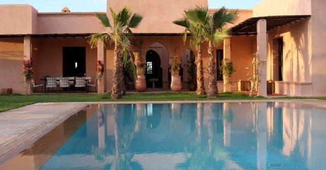 Location d 39 une villa marrakech avec piscine chauff e en - Location maison avec piscine marrakech ...