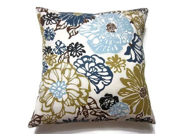 RESERVED Decorative Pillow Cover Tangerine Orange Aqua Purple Red Gorgeous Navy Blue And White Decorative Pillows