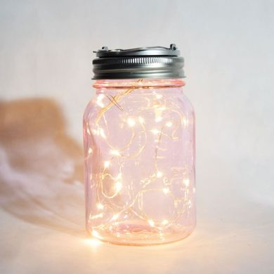 fantado regular mouth light pink mason jar light w hanging warm