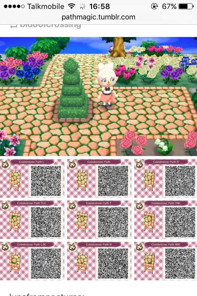 Acnl Peach Paths I Have This In My Town Motifs De Sol Motif