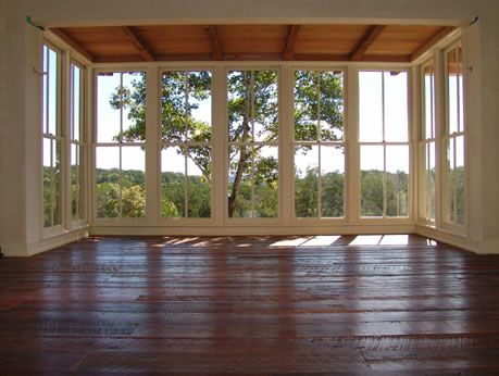Gorgeous Wide Plank Hardwood Floors And Floor To Ceiling Windows