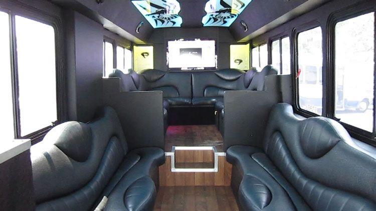 Custom limousine bus interiors custom design mini gillig for Custom party bus interiors