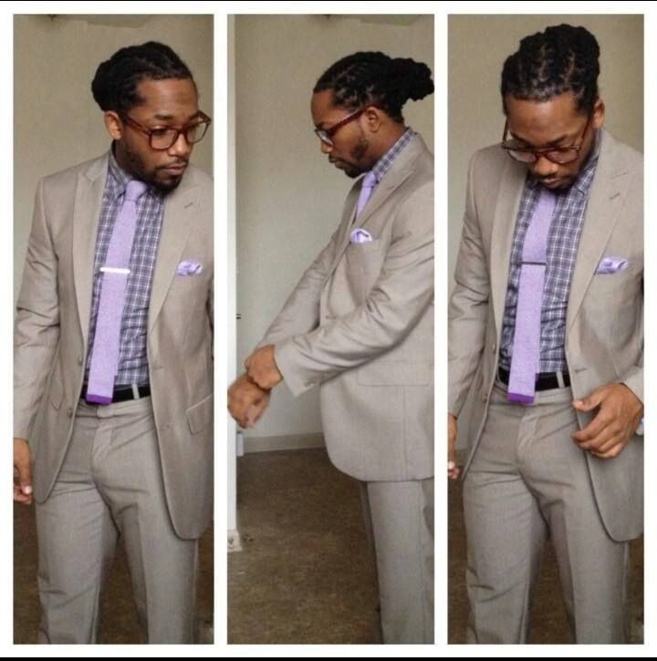 clean locs and add suit