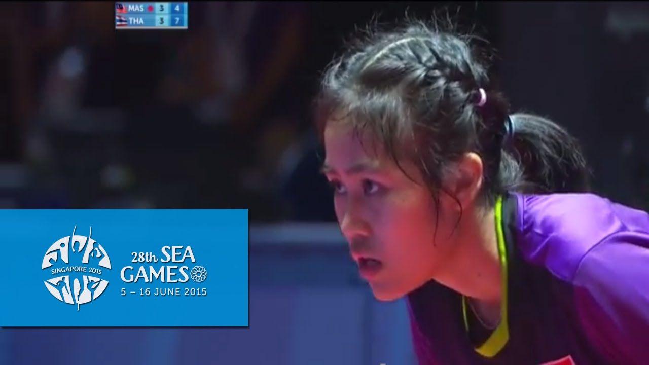 Table Tennis Women S Singles Finals Thailand Vs Malaysia 28th Sea Games Singapore 2015 Table Tennis Tennis Thailand