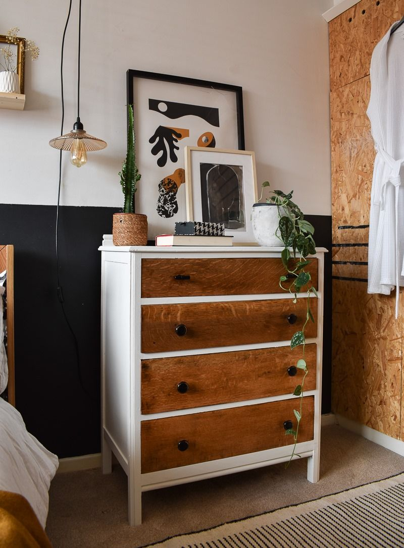 Before & After: How To Stain Wood And Give New Life To A Dated Dresser