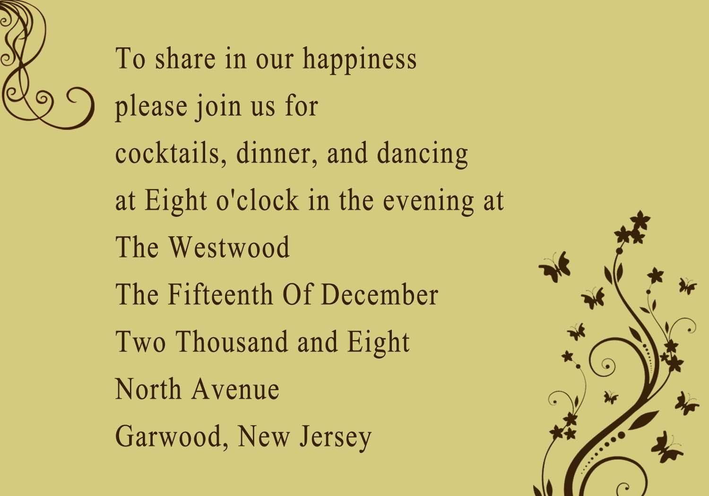 Wedding Reception Invitations Myweddingprinter
