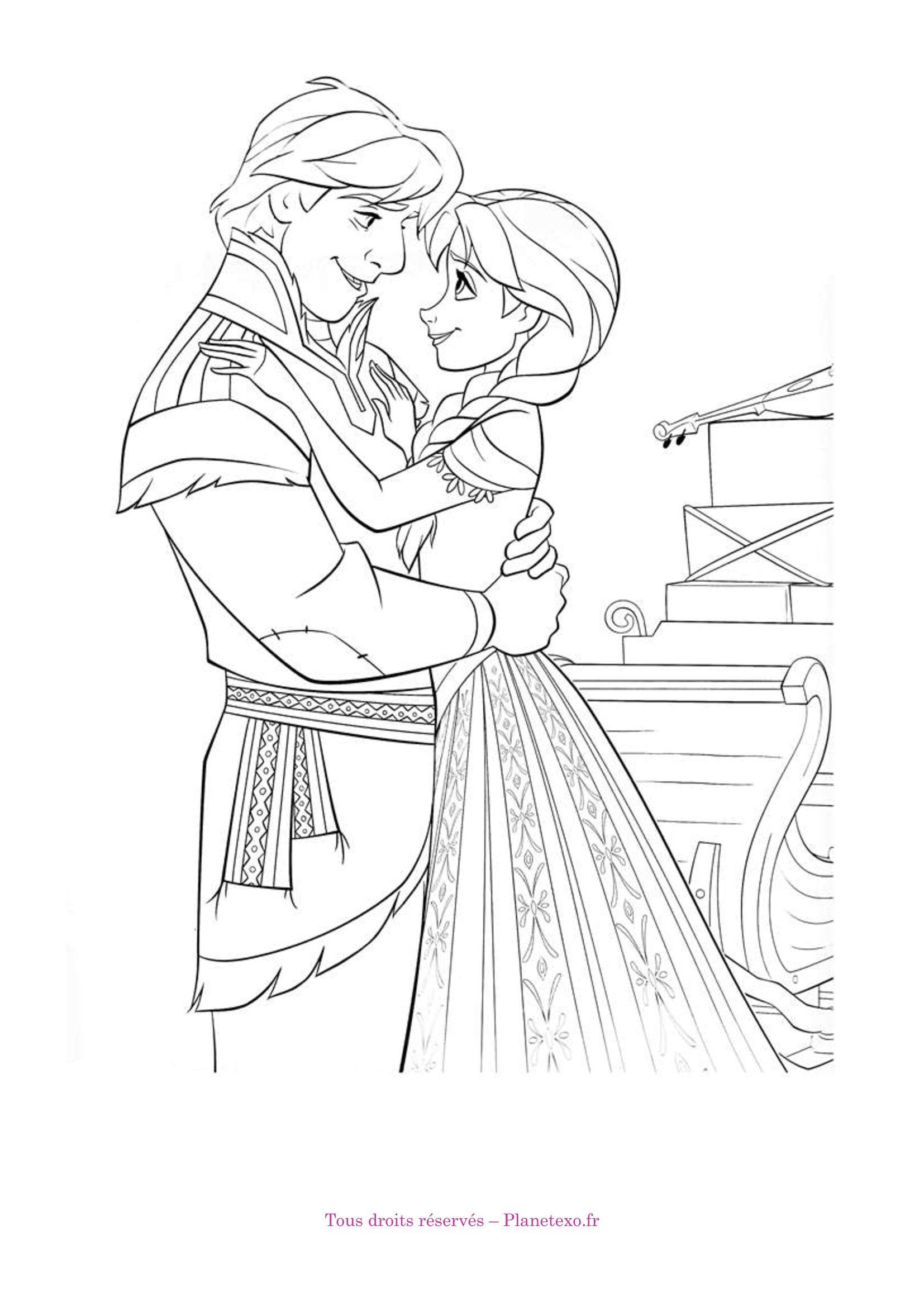Christof Et Anna Frozen Coloring Frozen Coloring Pages Coloring Pages
