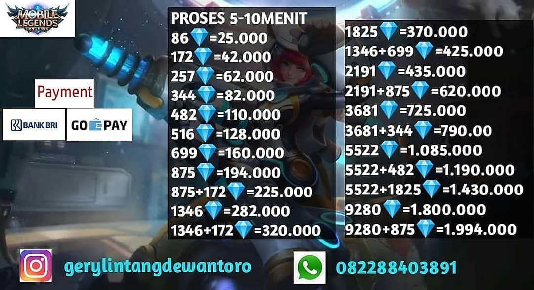 Diamond Mobile Legends Harga Turun Yg Minat Buruan Tata Cara Order 1 Kontak Nomer Whatsapp Line Dan Instragram Yang Ter App How To Apply Navigation System