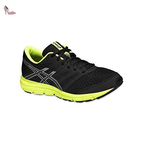 Asics Enfants Chaussures de course Gel Zaraca 4 GS C570N - Noir/Argent/Flash