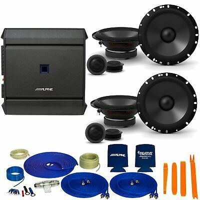 (Ad)(eBay Link) Alpine 2-Pairs S-S65C 6.5 Component Speakers with an Alpine S-A32F 320W 4-Ch #componentspeakers