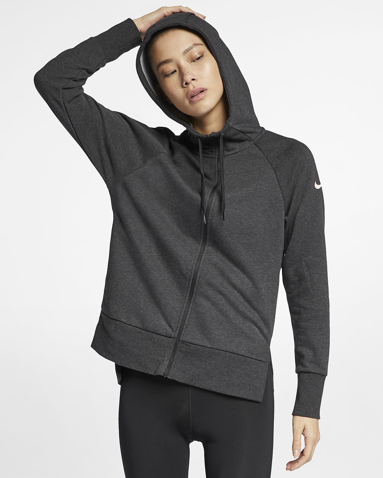 Nike drifit womens fullzip training hoodie fit women