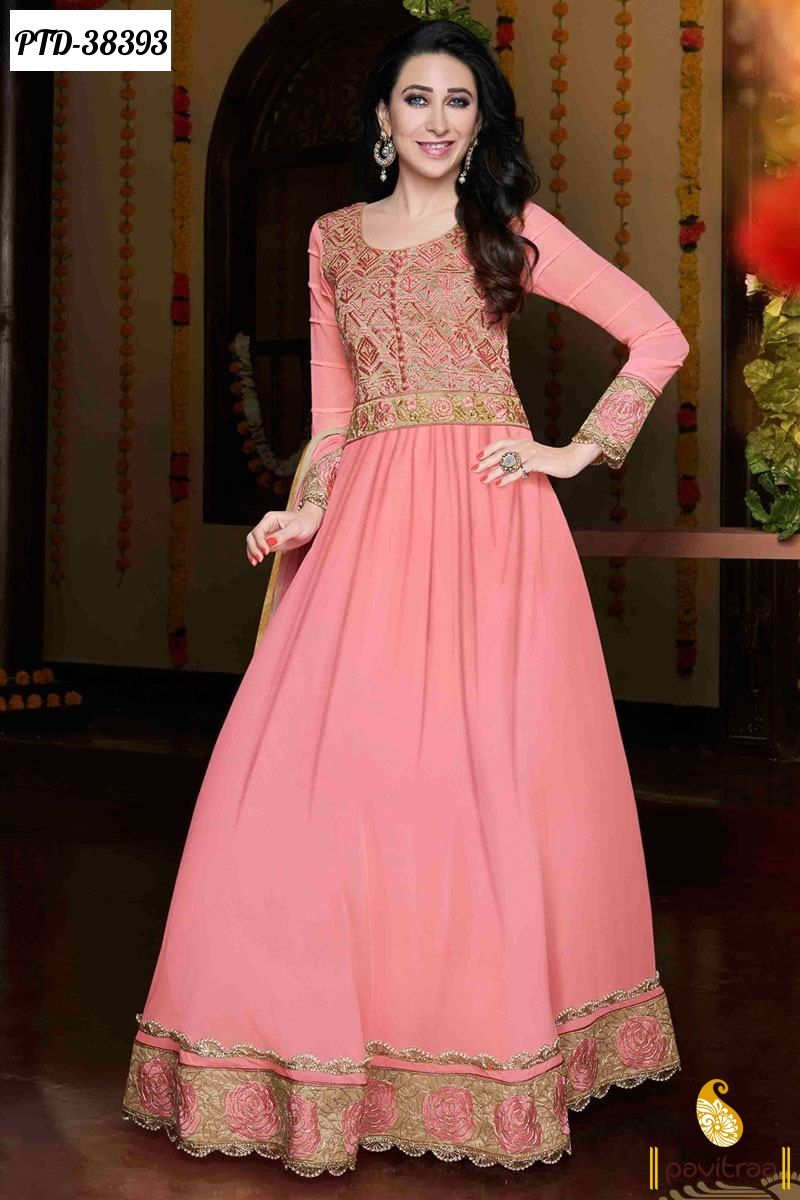 Pink Santoon Anarkali Salwar Suit Online Shopping #salwarsuits ...