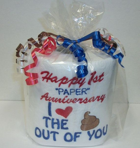 Custom made Embroidered 1st Anniversary Toilet by 3starmilitarymom, $9.50
