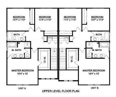Duplex Townhouse Plans Home Plans Home Design House Layout Plans Duplex House House Layouts